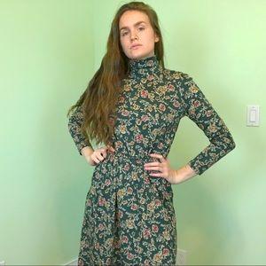 Vintage (90s) Land's End Turtleneck Maxi Dress